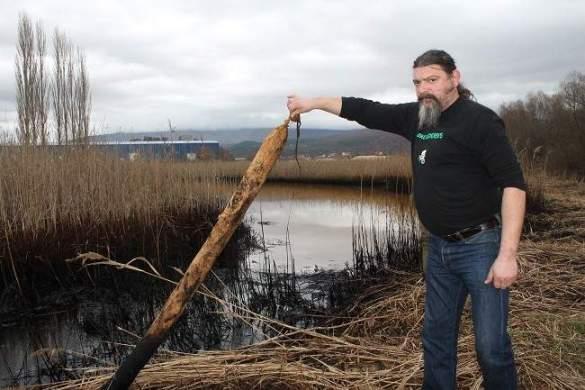 Ekolog Srečko Kmetič na mjestu onečišćenja (Foto: Hrvoslav Pavić)