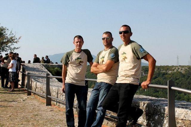 Eduard Baltić, Jasmin Hadić i Mario Bilać posjetili su kninski tvrđavu na obljetnicu Oluje 2013. godine (Foto H. Pavić)