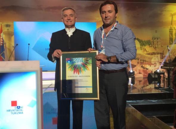 Gradonačelnik dr. Željko Buriić i direktor Turističke zajednice Grada Šibenika u Opatiji (Foto: Facebook)