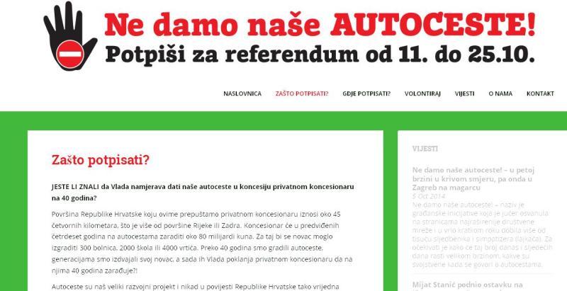 Referendum autoceste: Četrdeset godina smo ih gradili, a sad ih poklanjamo nekome da 40 godina zarađuje?
