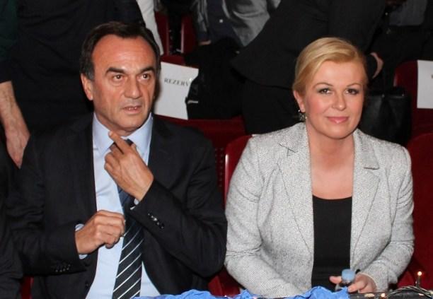 Predsjednik ŽO HDZ-a Ante Kulušić i predsjednička kandidatkinja Kolinda Grabar Kitarović (Foto: H. Pavić)
