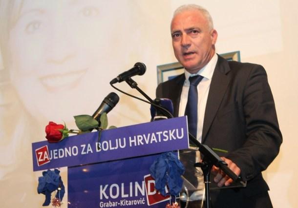 Predsjednik GO HDZ-a Goran Pauk na predizbornom skupu u HNK Šibenik 13. prosinca (Foto H. Pavić)