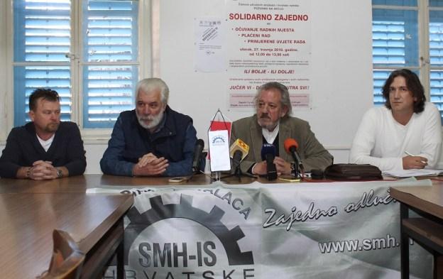 Drago Škrlin, Ivan Svraka, Vedran Dragičević i Dalibor Živković na konferenciji za novinare HSM-a  (Foto:  H. Pavić)