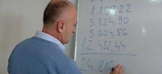 Ministar Matič računa (foto HTV)