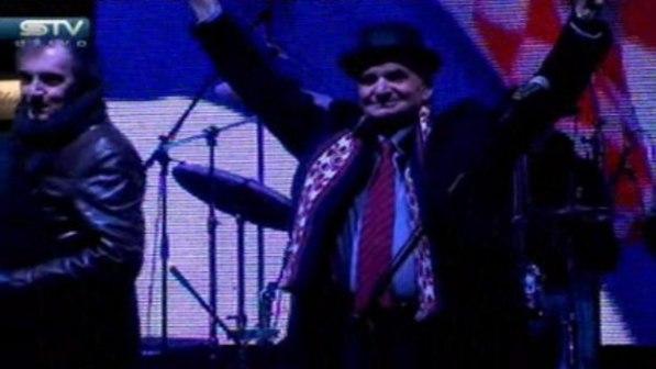 Branimir Glavaš na svečanosti priređenoj u čast njegovog povratka (Sreenshot STV)