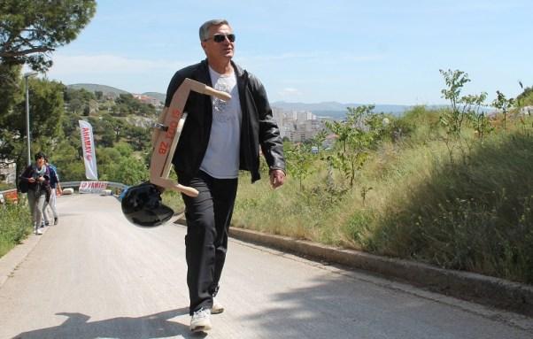 Gradonačelnik Burić pred utrku (Foto: Tris/H. Pavić)