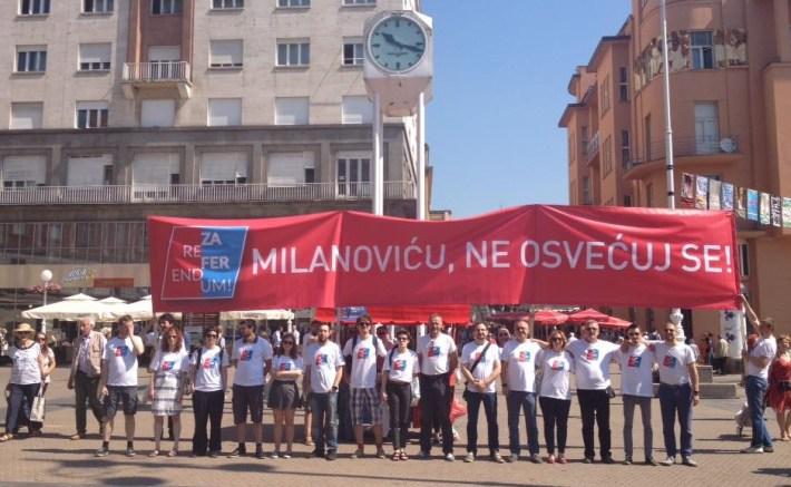 Nakon Markovog trga, aktivisti su se spustili na Jelačić-plac