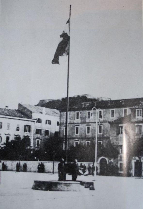 Talijanska zastava na šibenskoj Poljani