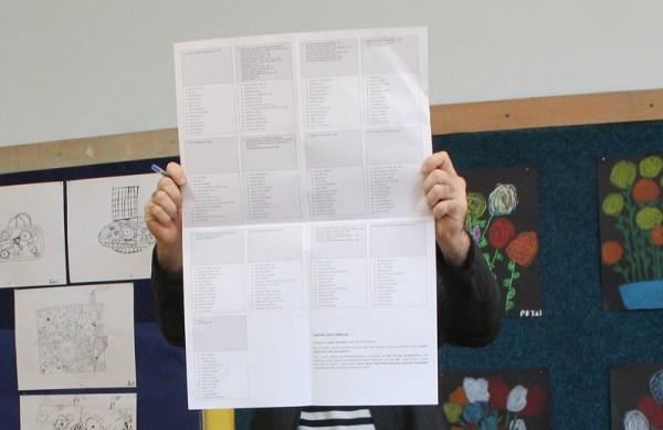 Glasački 'listić' (Foto: H. Pavić)