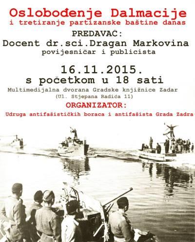 Danas u Zadru: Oslobođenje Dalmacije i partizanske snježne radosti
