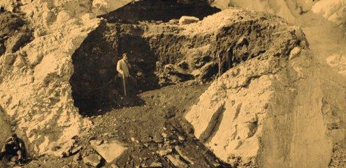 Arheološki lokalitet Šandalja u starom kamenolomu kod kaznionice u Valturi (izvor: Istrapedia)