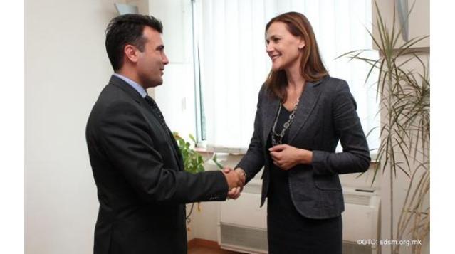 Danijela Barišić i Zoran Zaev, lider oporbenog SDSM-a
