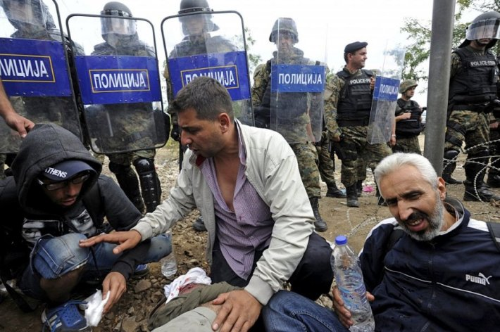 Migranti makedonska granica