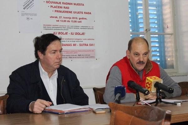 Vedran Uranija i Svetislav Džale na današnjoj konferenciji (Foto: Tris/H. Pavić)