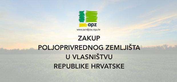 Info letak Agencije za poljoprivredno zemljište s uputama o zakupu poljoprivrednog zemljišta u vlasništvu Republike Hrvatske