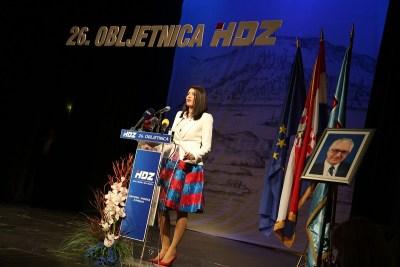 Josipa Rimac - 26. obljetnica HDZ-a u Šibeniku (Foto H. Pavić)