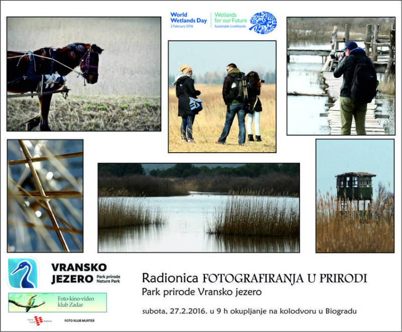 Vransko jezero: Naučite napraviti super fotku i osvojite besplatni let u močvaru.