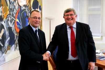 Hasanbegović i Obersnel (Foto: Ministarstvo kulture)