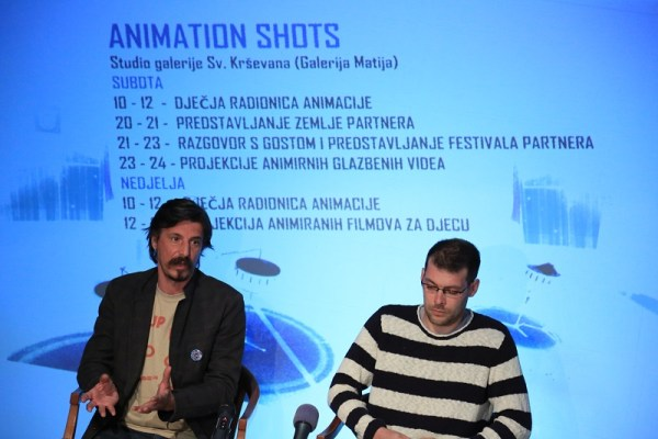 Slave Lukarov i Petar Trebotić na konferenciji za novinare Supertoona (Foto: Tris/H. Pavić)
