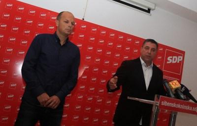 Joško Šupe i Franko Vidović na današnjoj konferenciji za novinare (Foto: Tris/H. Pavić)