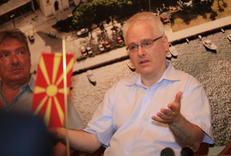 Saša Georgijevski i Ivo Josipović, član Tangente  (Foto: Tris/H. Pavić)