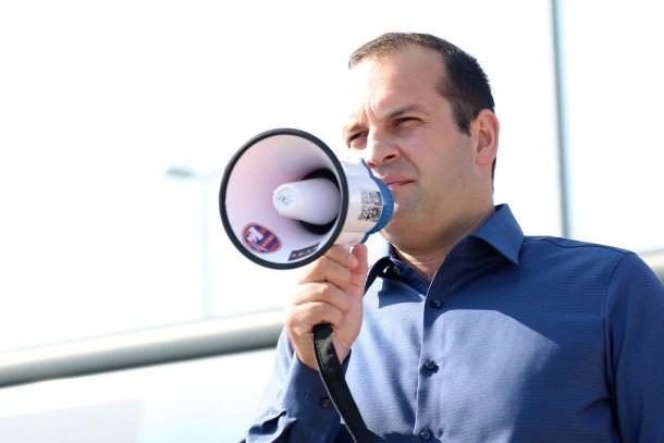 Ivan Klarin na prosvjedu (Foto: H. Pavić)