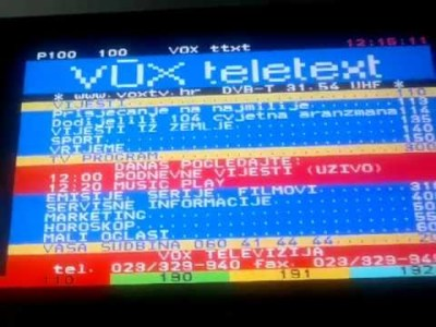 Screenshot teleteksta