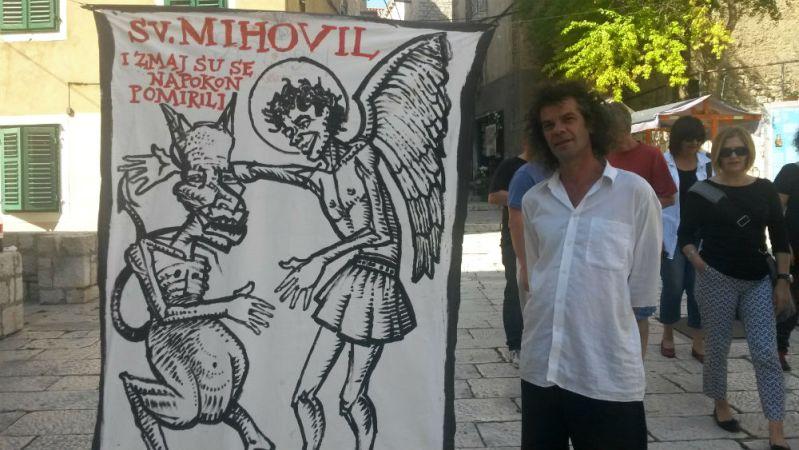 Zmaj, sv. mihovil i Zvonimir Vila (Foto: TRIS)