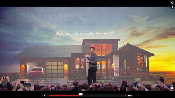 Musk predstavlja crijep (foto printscreen www. tesla.com)