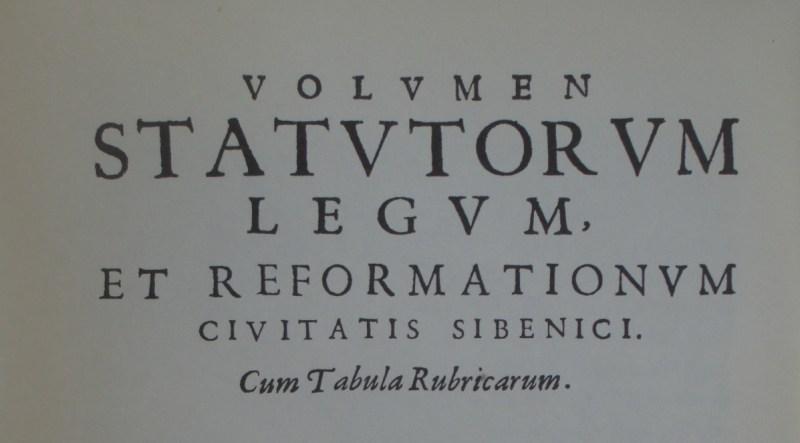 Šibenski statut otprije 606 godina