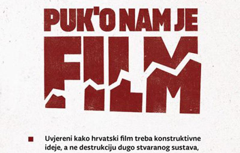 """Odbor Europske filmske akademije podržava inicijativu """"Puk'o nam je film"""""""