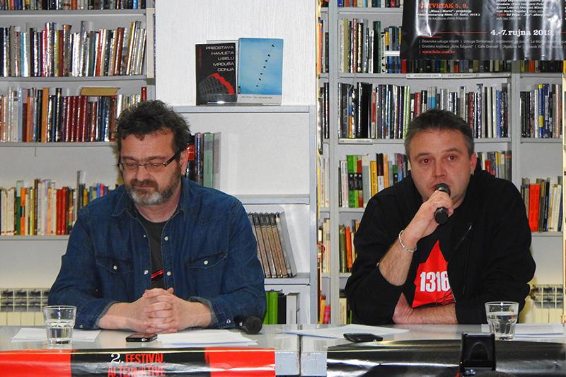 Kruno Lokotar i Emir Imamović Pirke na današnjoj 'presici' (Foto: Goran Šimac)