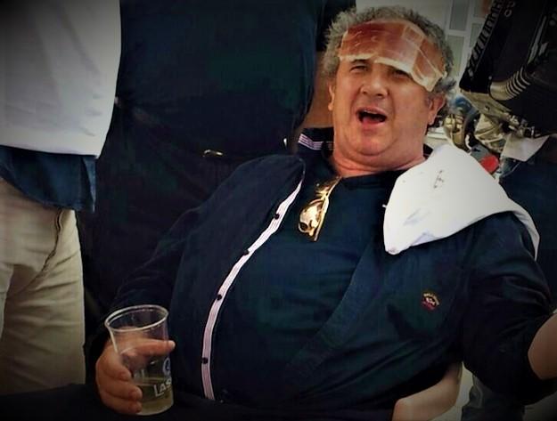 Ilustracija: Bivši splitski gradonačelnik Ž. Kerum s pršutom na čelu (foto Facebook)