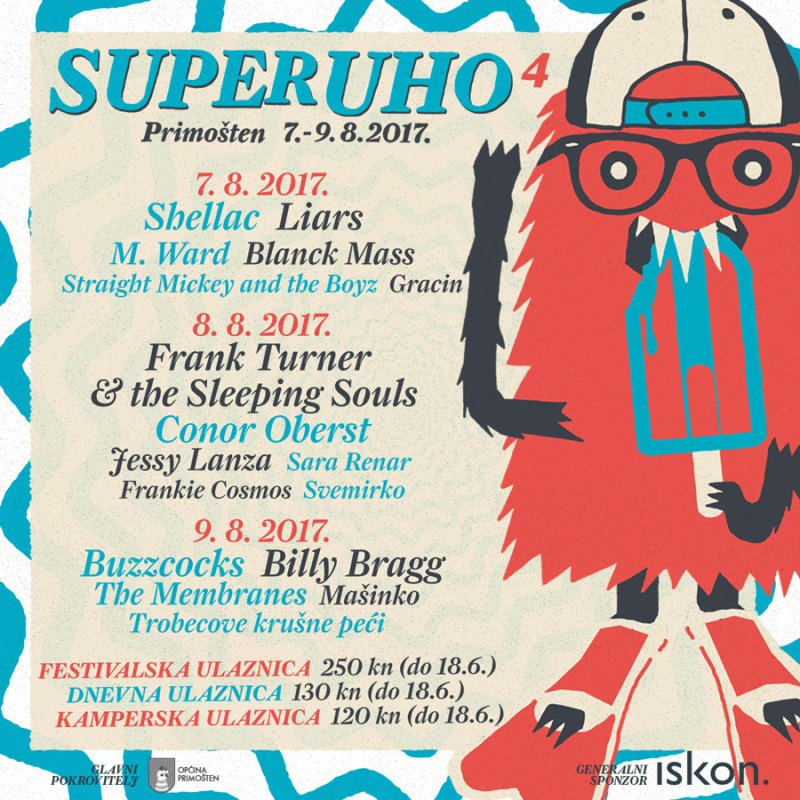SuperUho objavilo raspored nastupa po danima; počinje prodaja dnevnih ulaznica