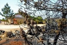 Spalena smreka... Vatra je umalo zahvatila skladište u Kistanjama (foto TRIS/G. Šimac)