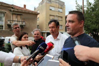 Vedran Uranija i Josip Bralić govorili su o stanovima nedavno u Šibeniku/Foto:Tris(J.Krnić)