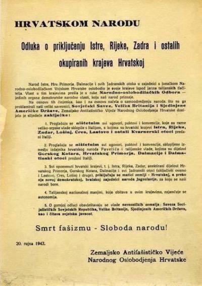 Vraćena Istra, Dalmacija....