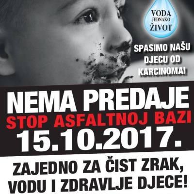 Prosvjed u Velikoj Gorici: Stop asfaltnoj bazi