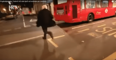 Londonski bijeg od novinara.... foto printscreen HRT/Youtube