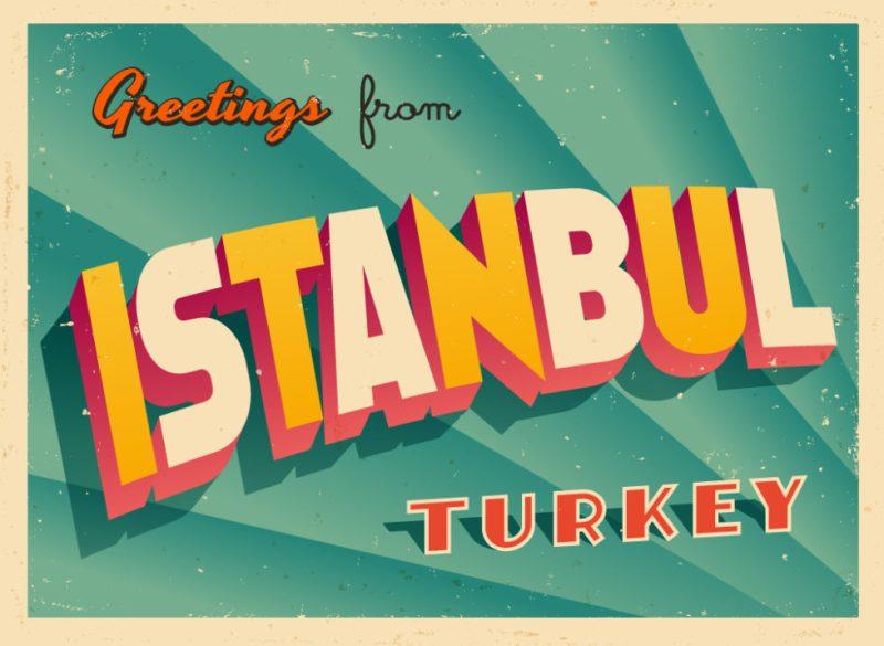 Ilustracija: stara razglednica iz Istanbula