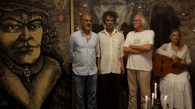 Admir Ćulumarević, Zvonimir Vila, Pavle Roce i Elma Burnić na otvorenju ateljea (Foto: TRIS)