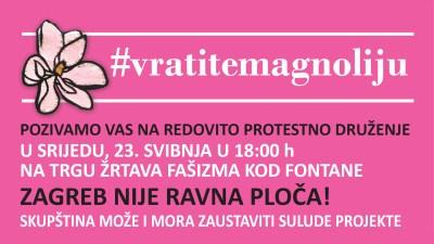 Protestno druženje srijedom oko Meštrovićevog paviljona: Zagreb nije ravna ploča!