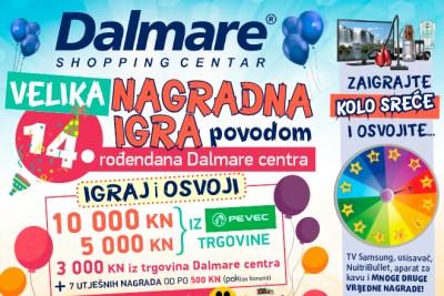Shopping centar Dalmare slavi 14. rođendan i dariva vas!