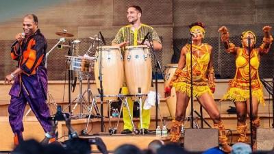 Femi Kuti i Igor Vince na pozornici (Foto: Igor Vince)