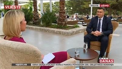 Plenković za vrijeme intervjua (foto printscreen RTL)