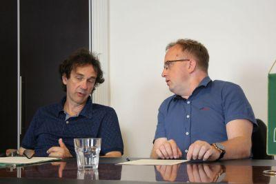 Organizator glazbenog dijela Željko Petreš i ravnatelj NP Krka Krešimir Šakić (Foto: TRIS)