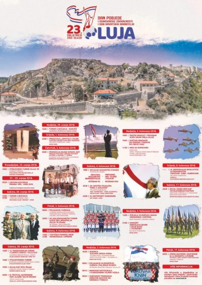 Knin 2018.: Vijenci, povjesnica, zastava, mimolet, besplatni grah, M. Škoro, Lidija Bačić, 'Stina pradidova' i 'Croatio iz duše te ljubim'