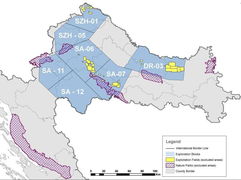 Karta se odnosi na ovu fazu. Na drugim kartama je osjenčena čitava Hrvatska., izuzev nacionalnih parkova.
