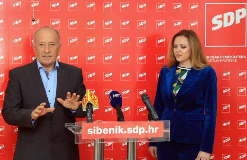 Potpredsjednici GO SDP-a Šibenik, Ivan Rajić i Ivana Vučenović