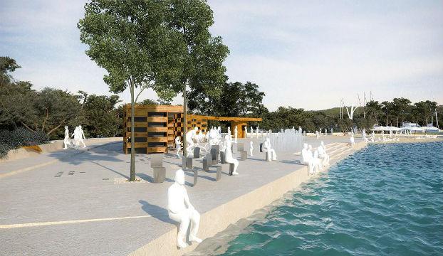 Ilustracija preuređenja plaže Sovlje iz prethodnog projekta
